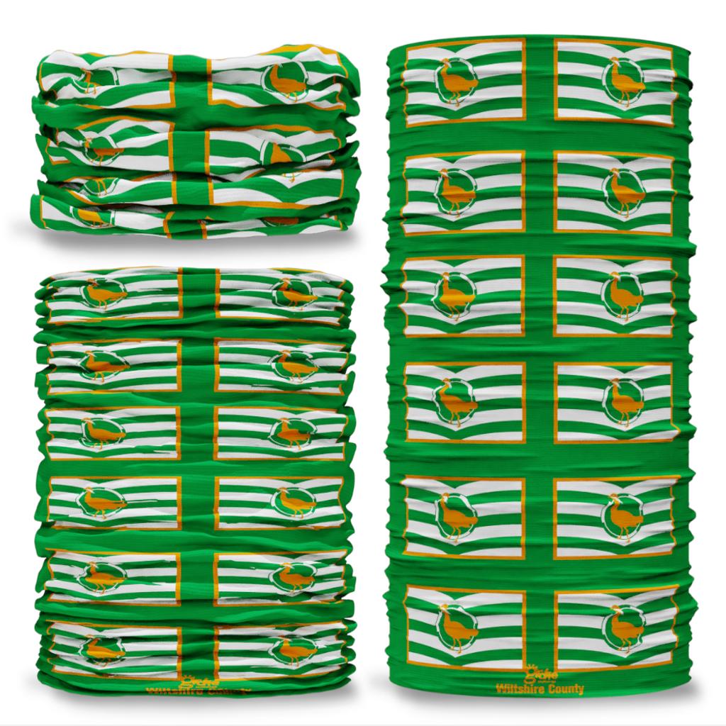 Wiltshire County Flag Tube Bandana Snood Multifunctional multiwrap Giraffe headwear