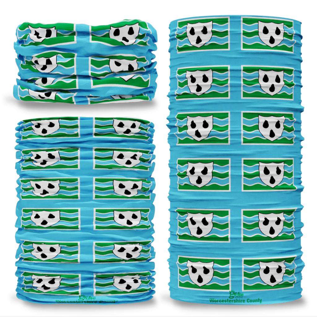 Worcestershire County Flag Tube Bandana Snood Multifunctional multiwrap Giraffe headwear