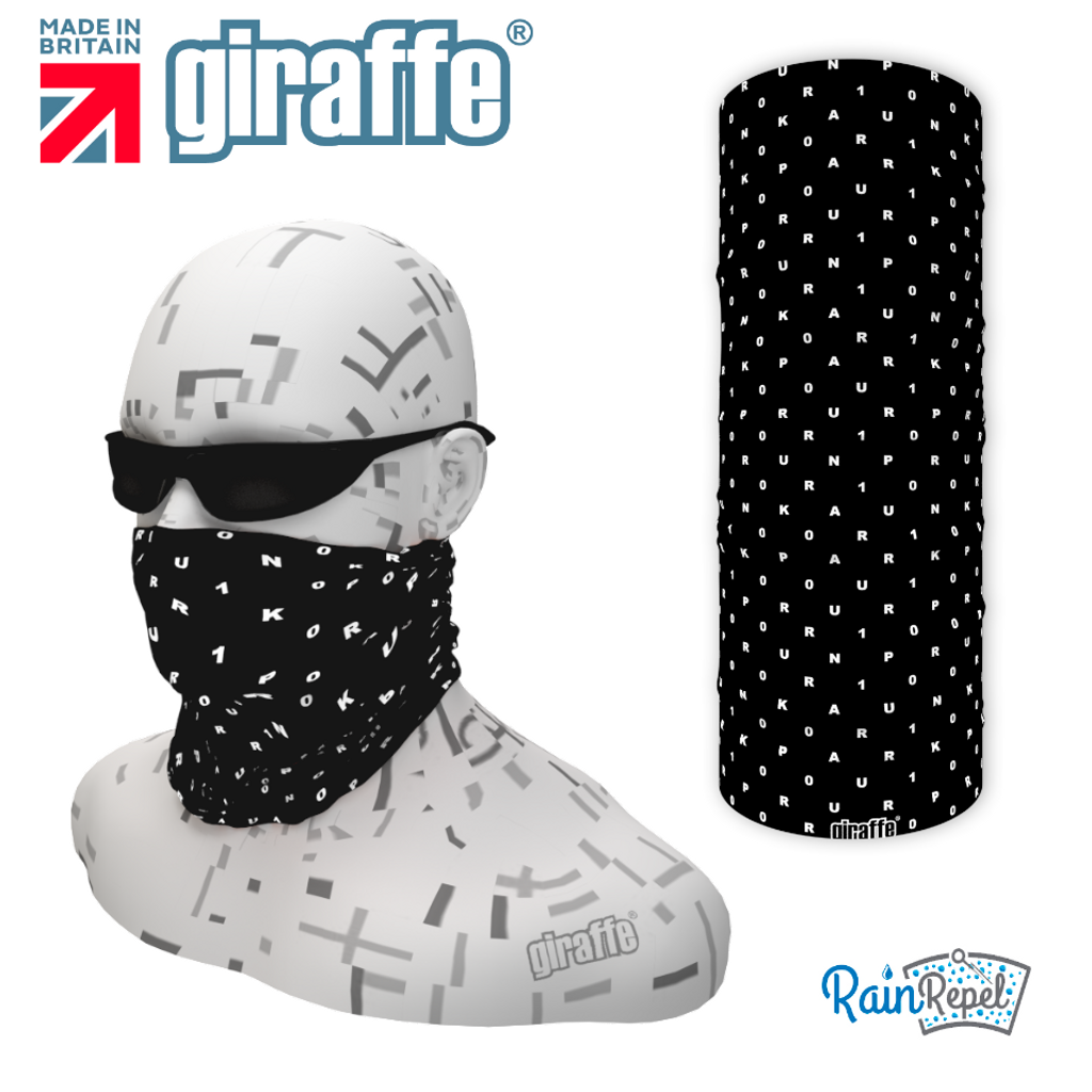 Park run jog  walk 100 Milestone Black Tube Bandana multifunctional headwear