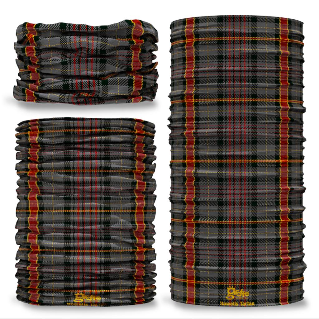 Howells Tartan Wales Welsh Seamless Tube Bandana Snood Multifunctional multiwrap Giraffe headwear