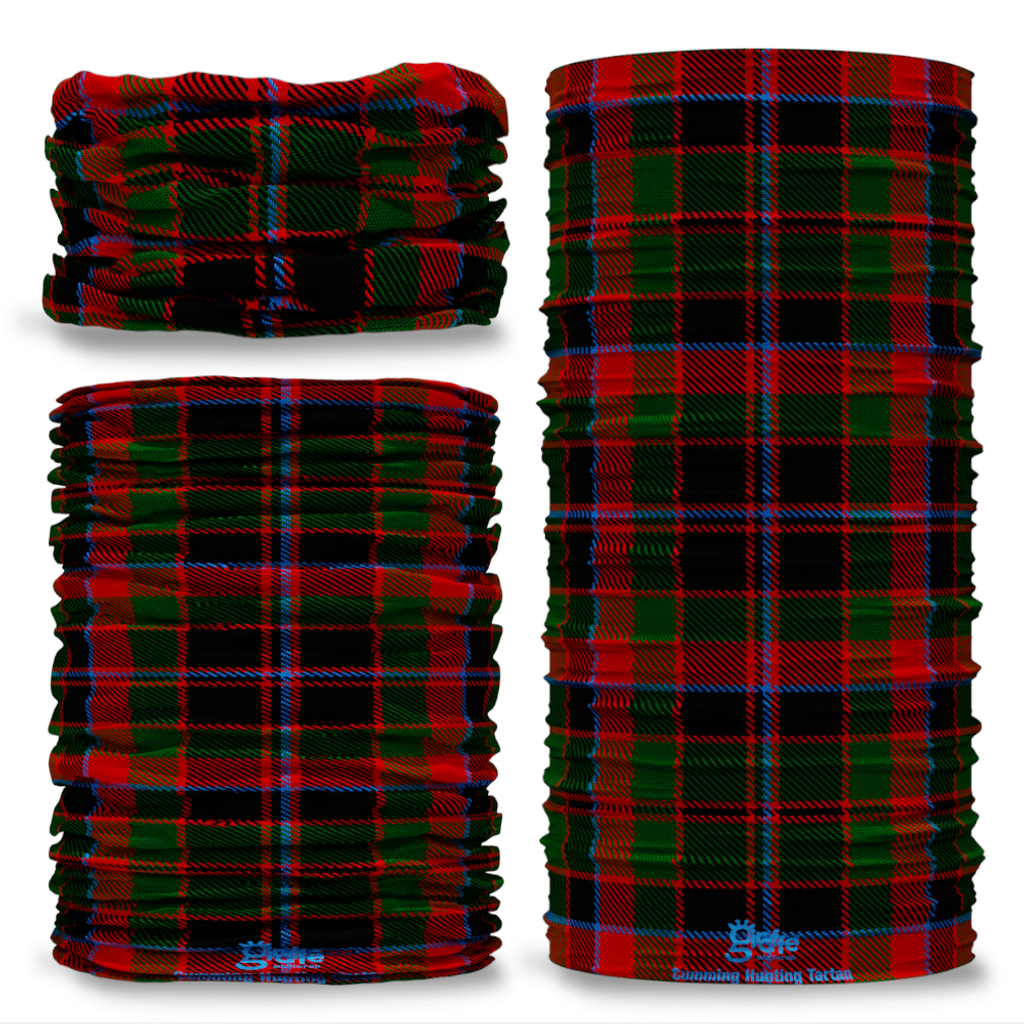 Cumming Hunting Tartan Scottish Clan Seamless Tube Bandana Snood Multifunctional multiwrap Giraffe headwear