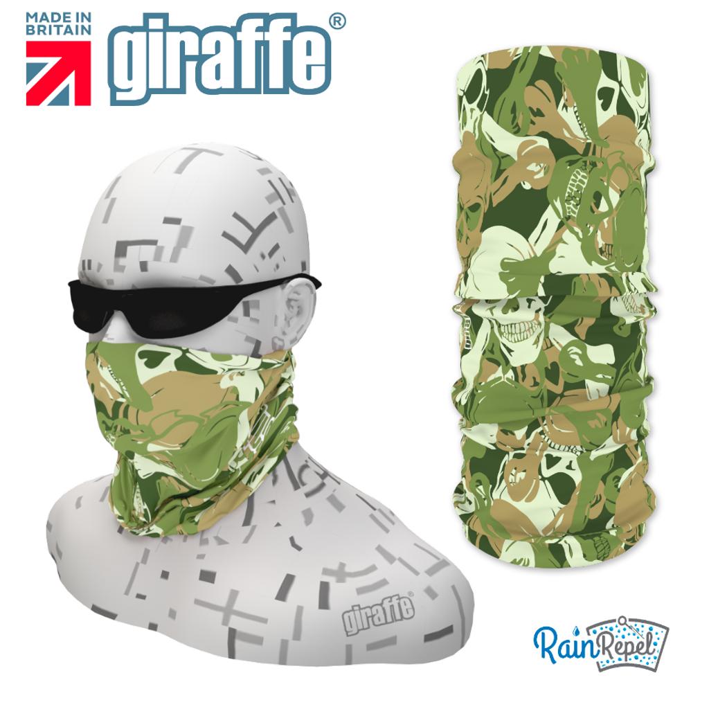 G322 Green Skulls Mix Camouflage Tube Bandana