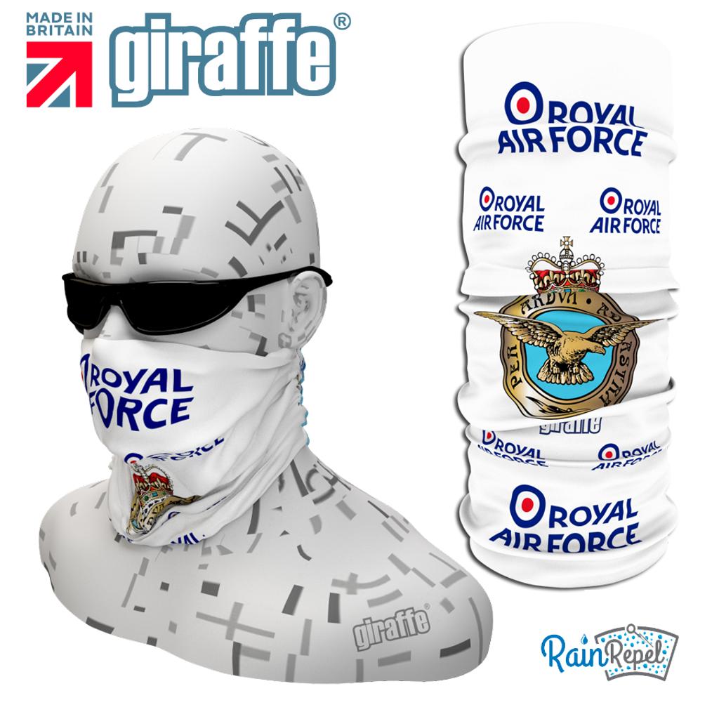 G390 Royal Air Force White Tube Bandana