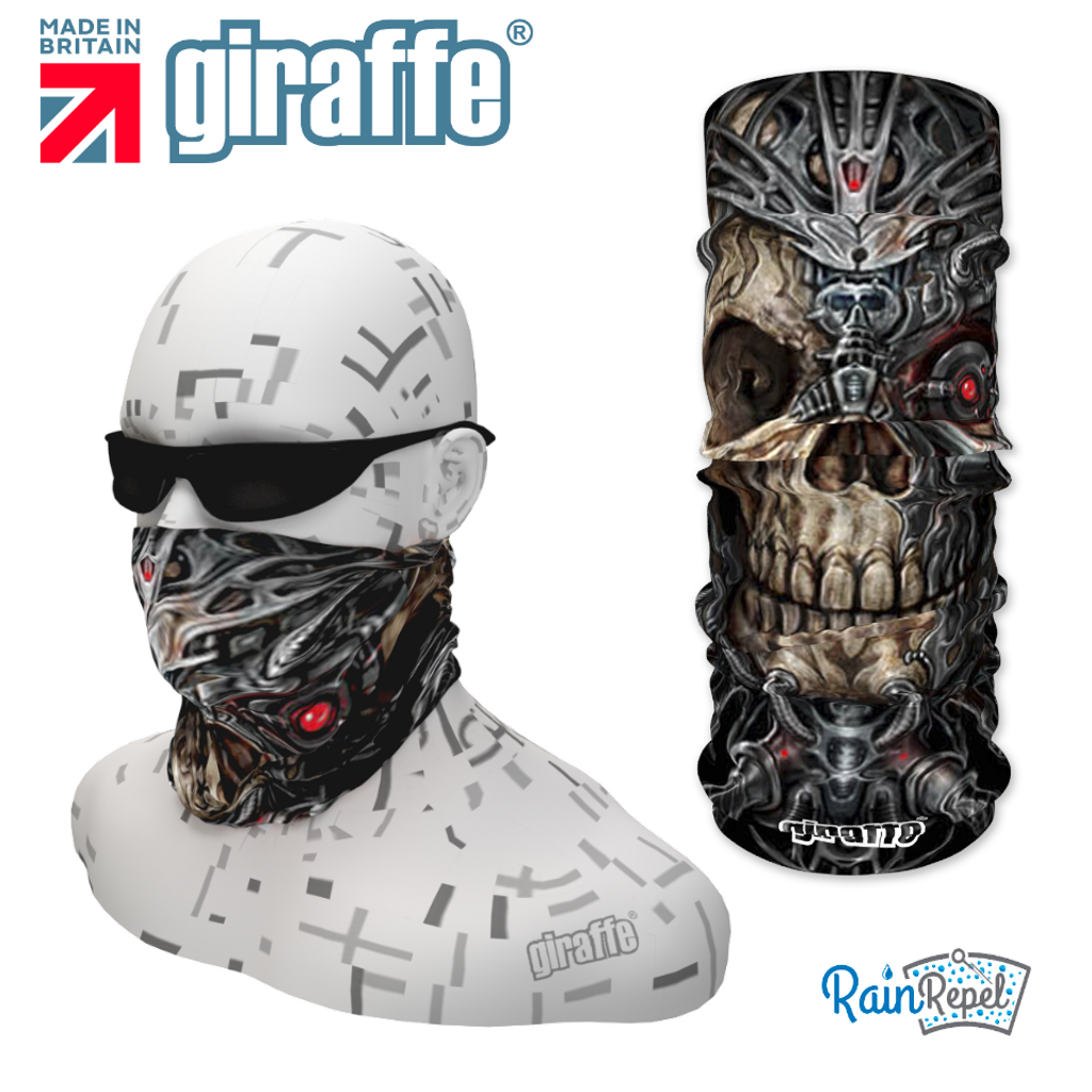 G291 Cyborg Skull Tube Bandana