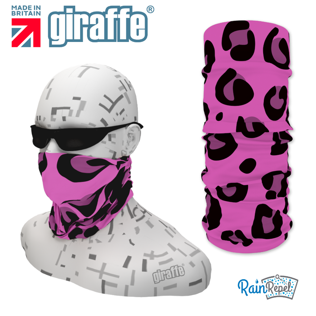 G336 Animal print Pink Tube Bandana