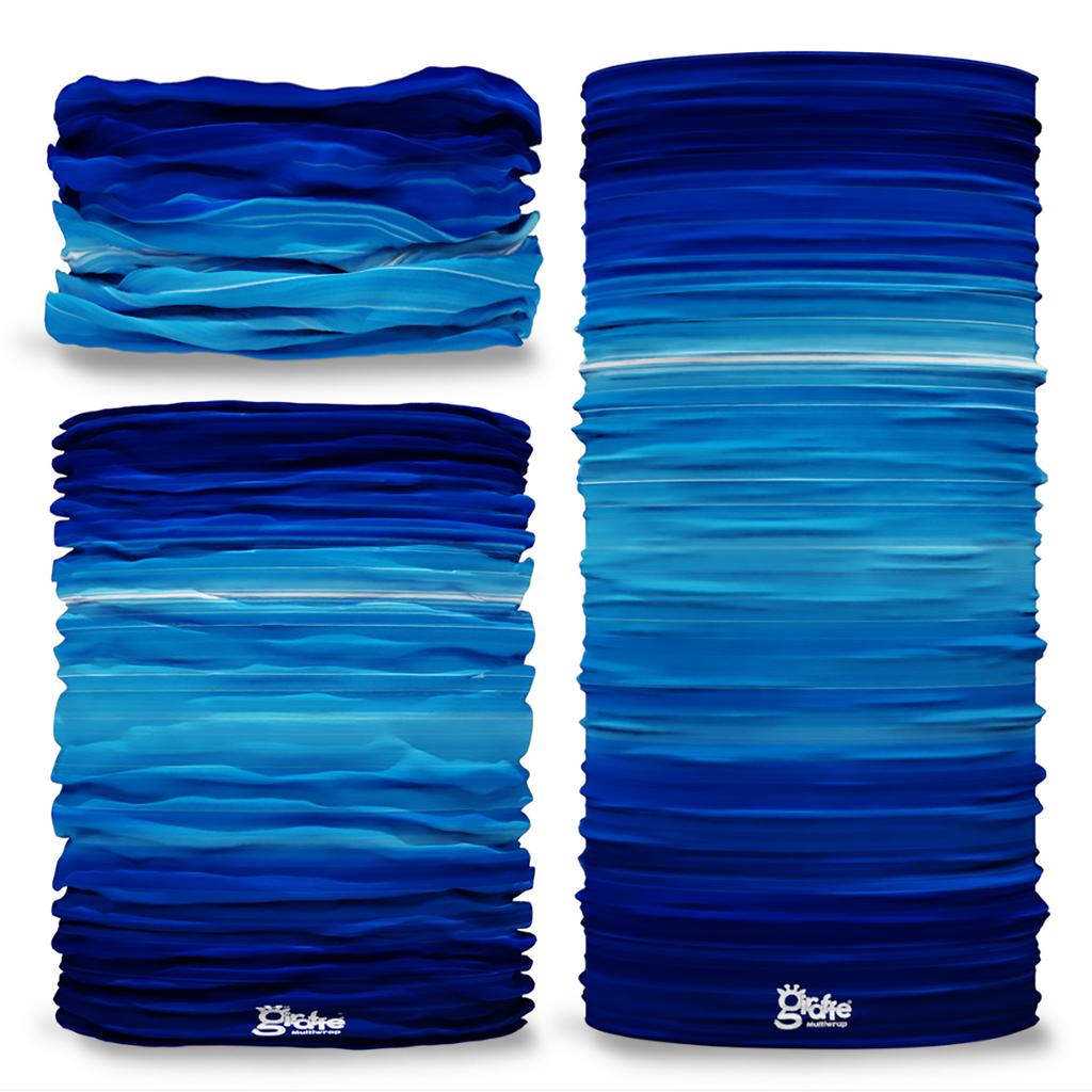 G-352 Blue Stripes Bands Seamless Tube Bandana Snood Multifunctional multiwrap Giraffe headwear