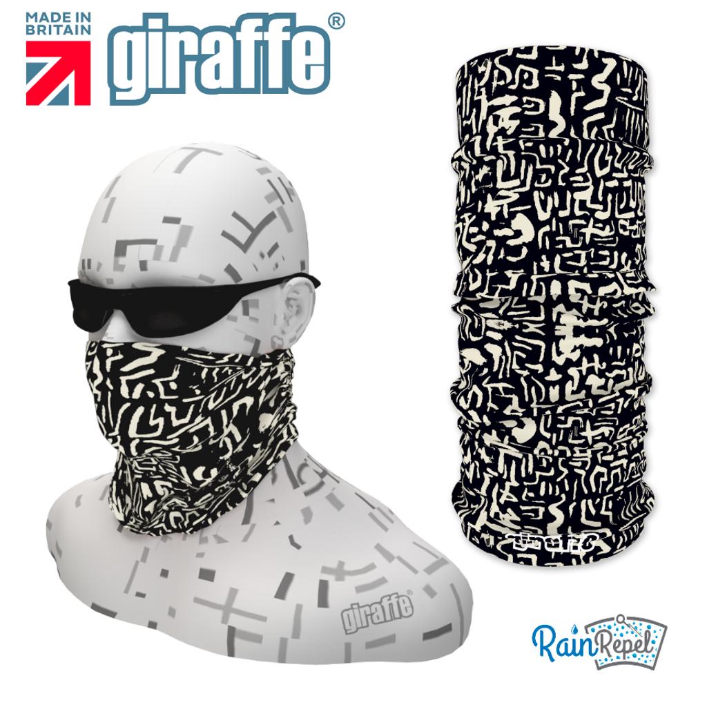 G364  Black Cream Aztec Design Tube Bandana