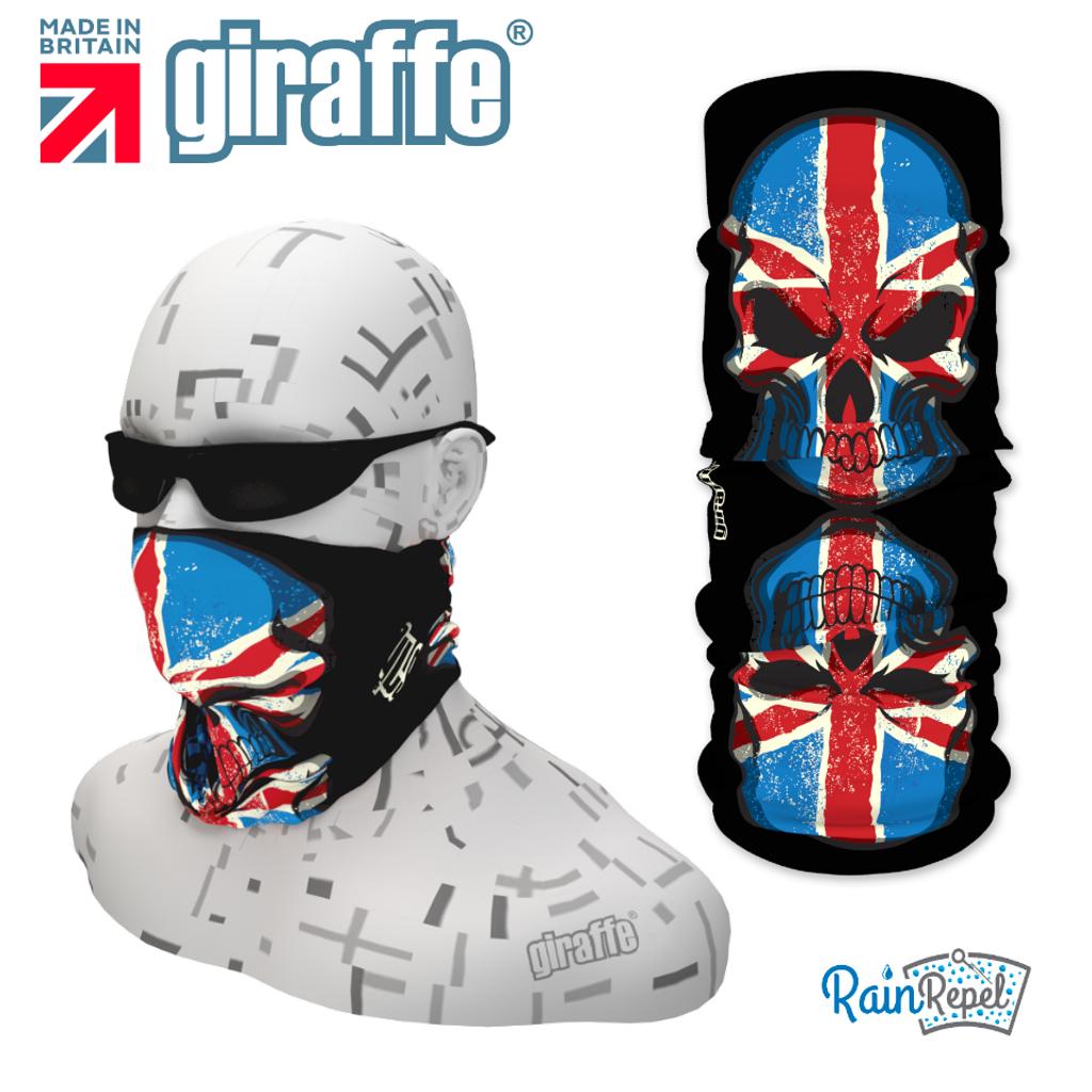 G395 Union Jack Flag Skulls Reflection Tube Bandana