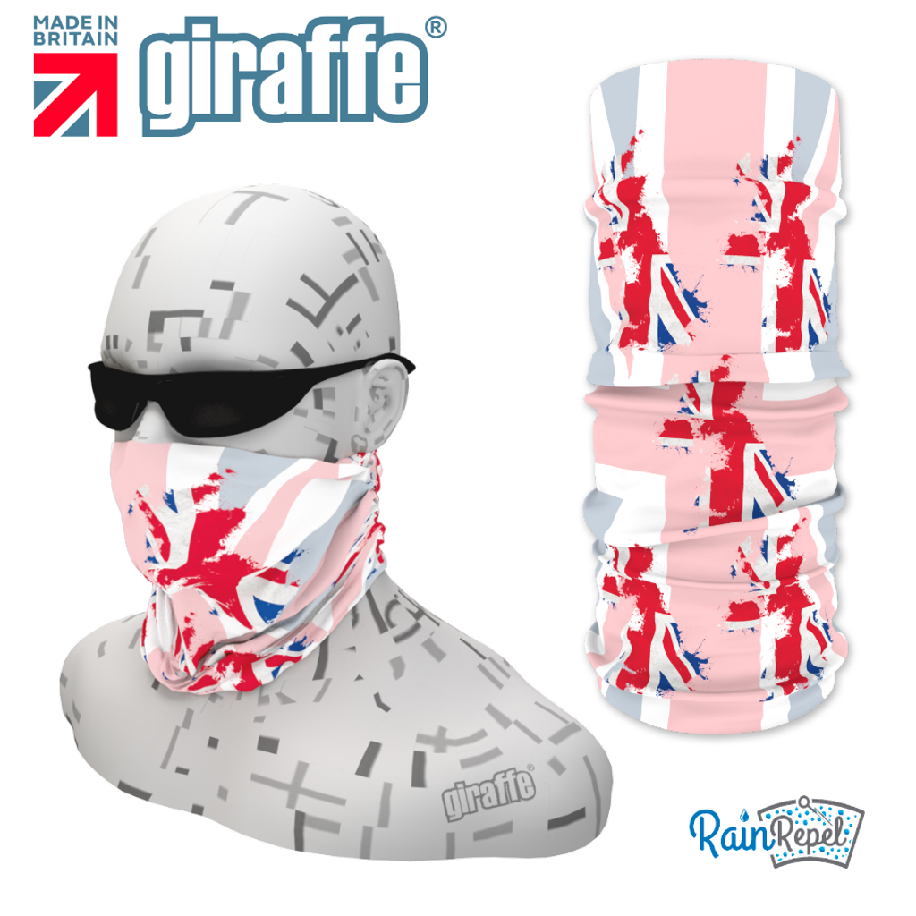 G408 UK British Flag Red White Blue Tube  Bandana