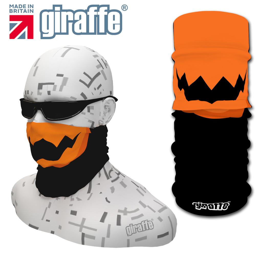 G456 Pumpkin Chops Face Mask Black Tube  Bandana