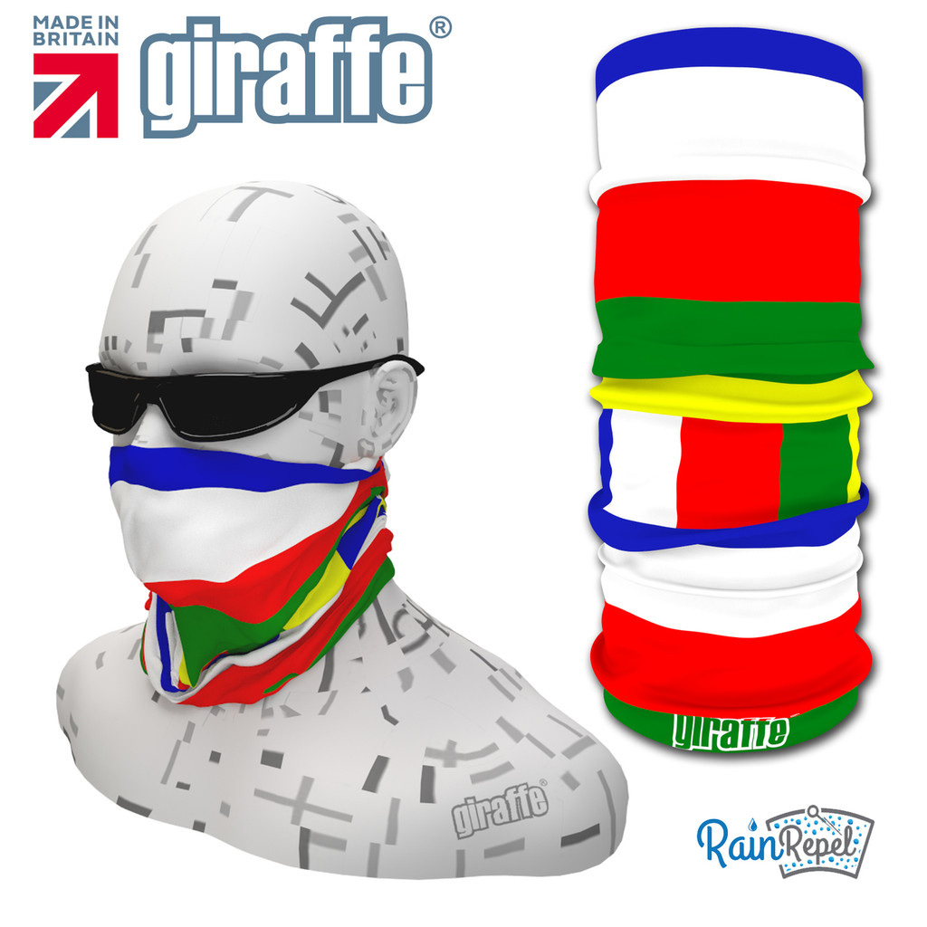 G463 Tibetan Flag Green Red Blue White Yellow Tube  Bandana