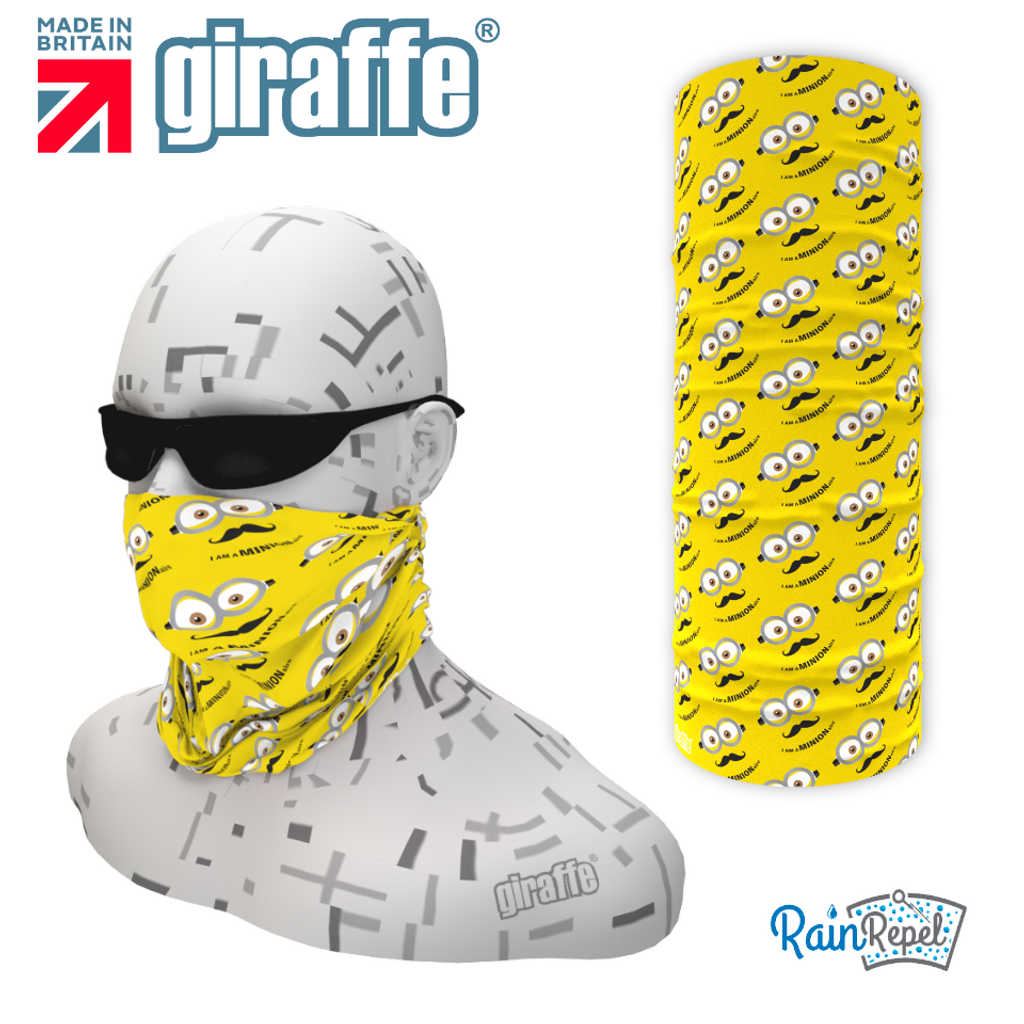 G564 Minion Eyes Repeat  Multi-functional Tube Bandana