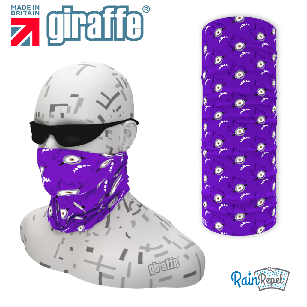 G565 Minion Eye Purple reapeat Multi-functional Tube Bandana