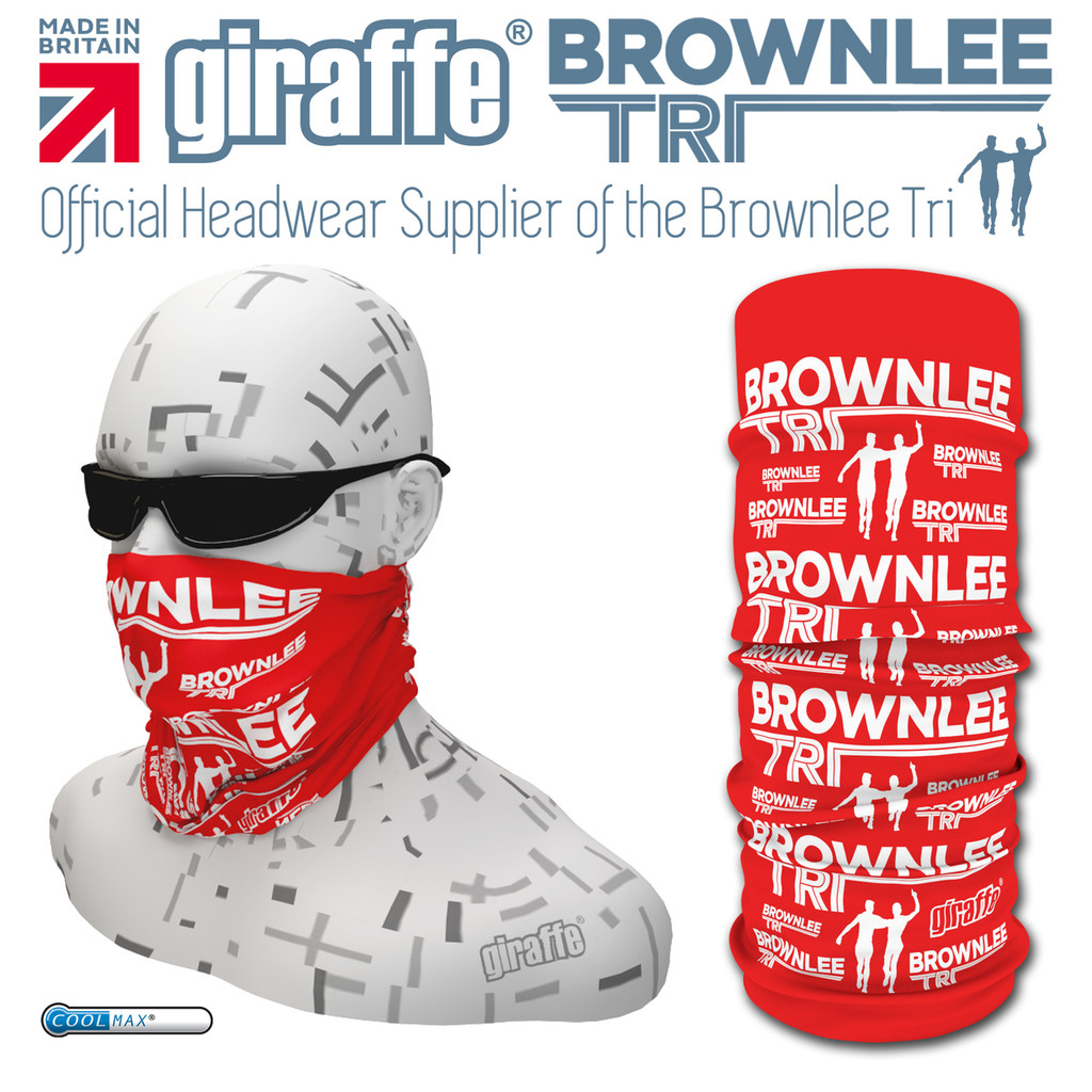 Brownlee Brothers Triathlon Red Multi-functional Tube Bandana