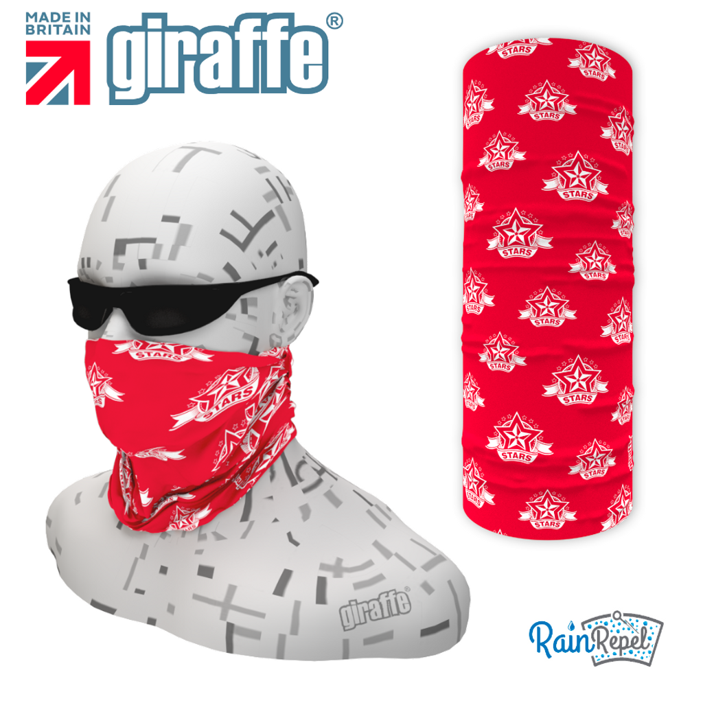 Redditch Stars Red  - Club Design Multi-functional Bandana