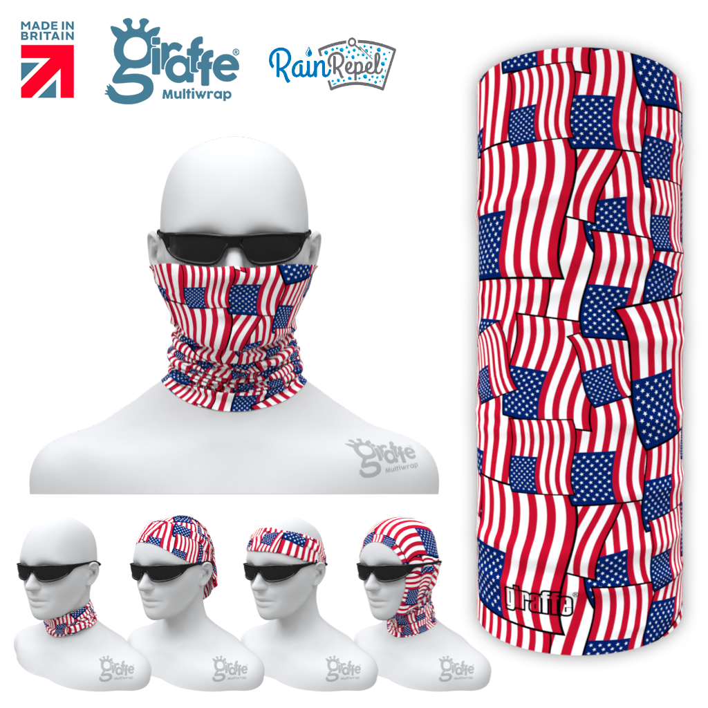 United States Flag Montage USA  Multifunctional Tube Bandana G317