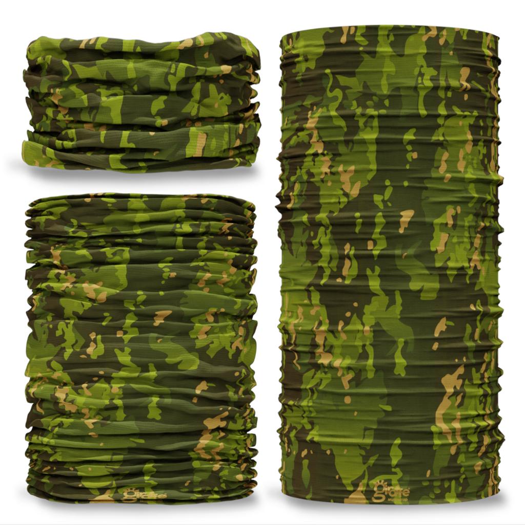 G-586 Jungle Tropics Camouflage  Camo Seamless Tube Bandana Snood Multifunctional multiwrap Giraffe headwear