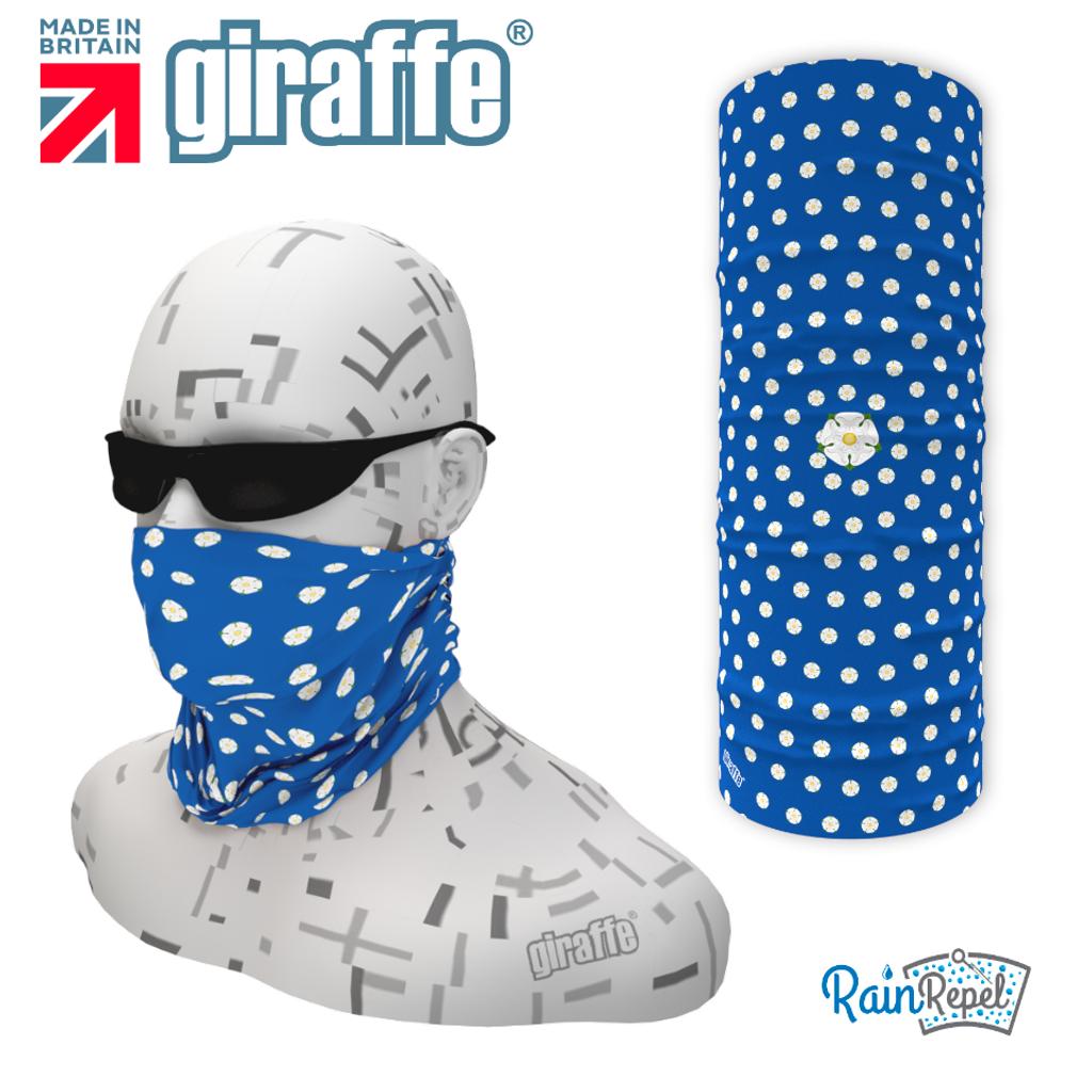G-560 Yorkshire Rose Blue  Face Mask Black Tube  Bandana