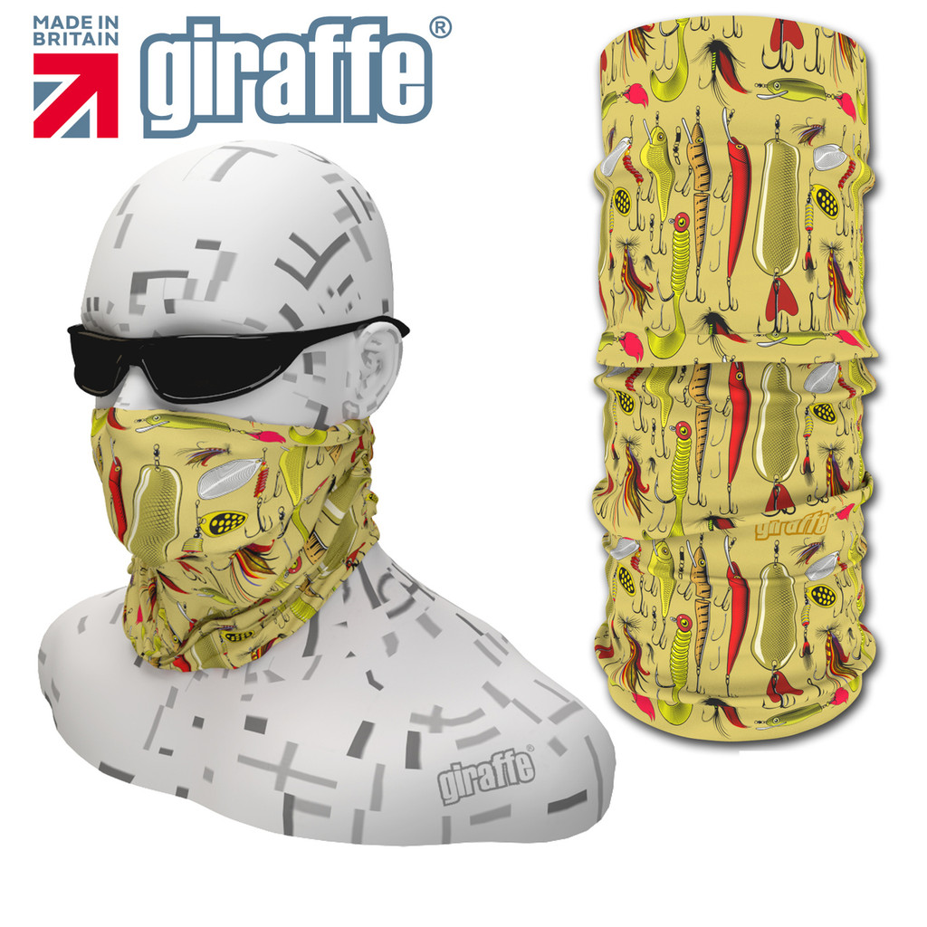 G-421 Fish Hooks  Face Mask Black Tube  Bandana