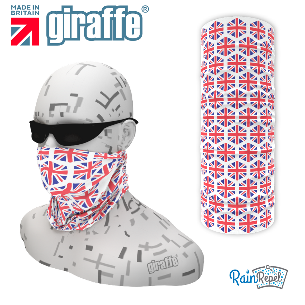 G-567 GB Union Flag Multi Face Mask Black Tube  Bandana