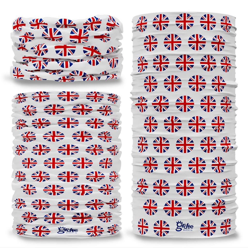 G-568 GB Union Flag Seamless Tube Bandana Snood Multifunctional multiwrap Giraffe headwear