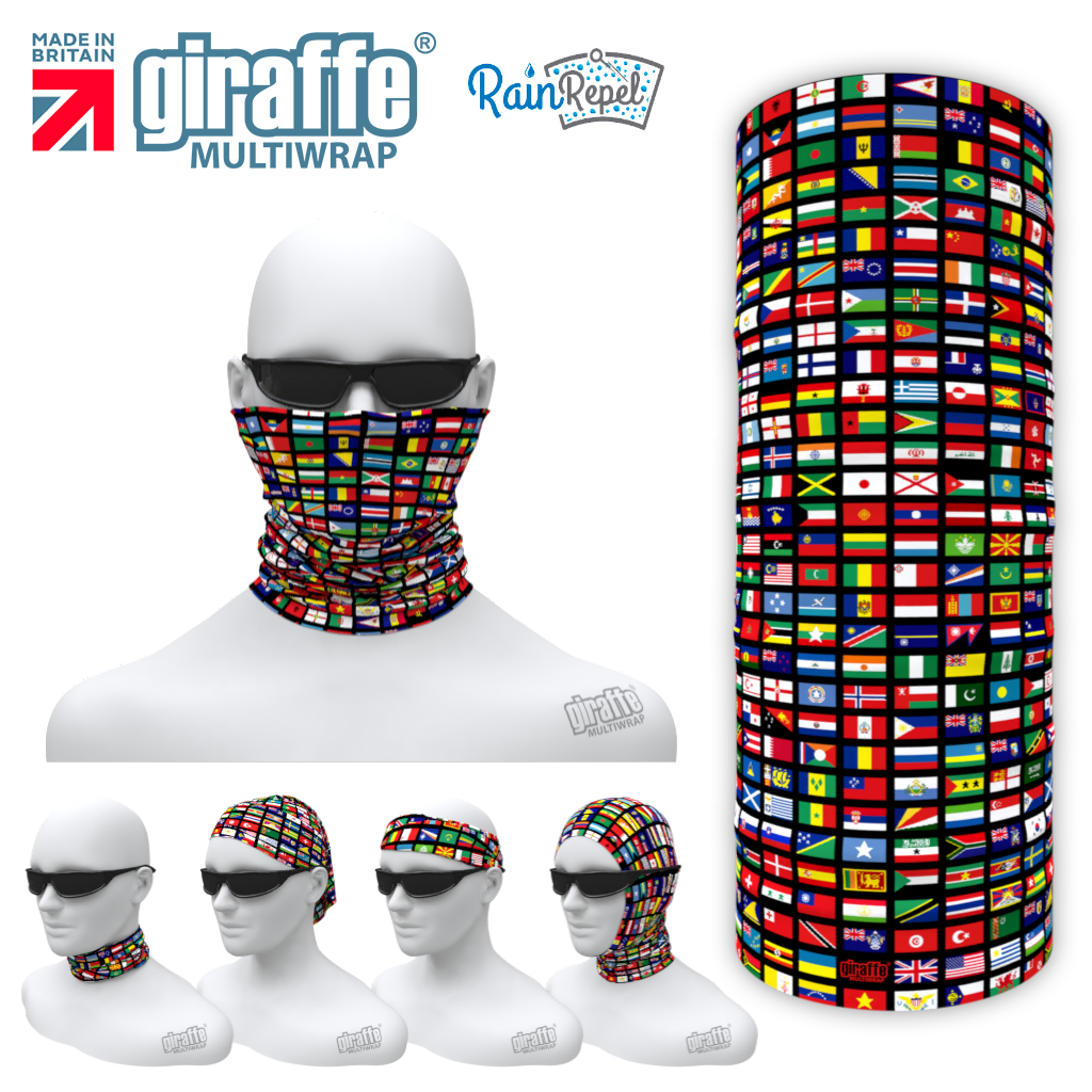 G-593 World Flags  Face Mask Tube  Bandana