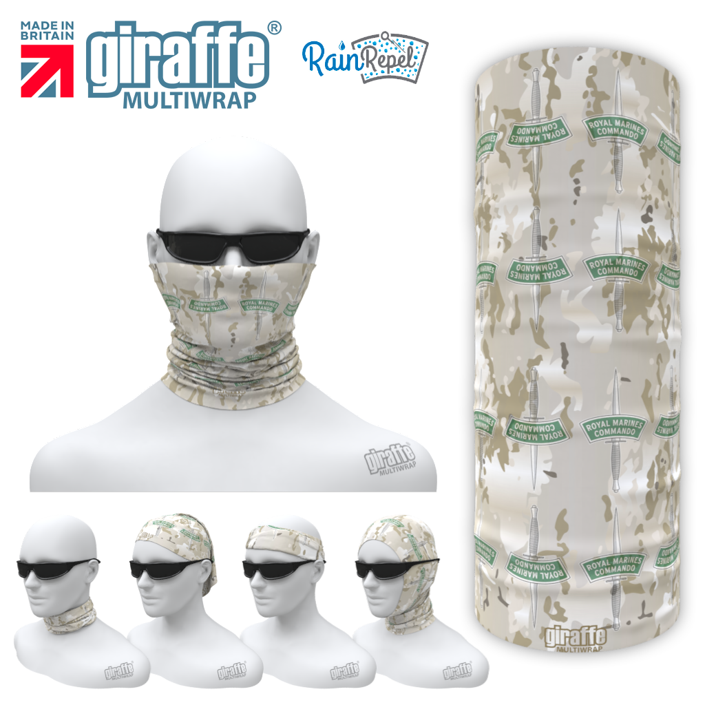 G-595 Royal marines Arid -   Face Mask Tube  Bandana