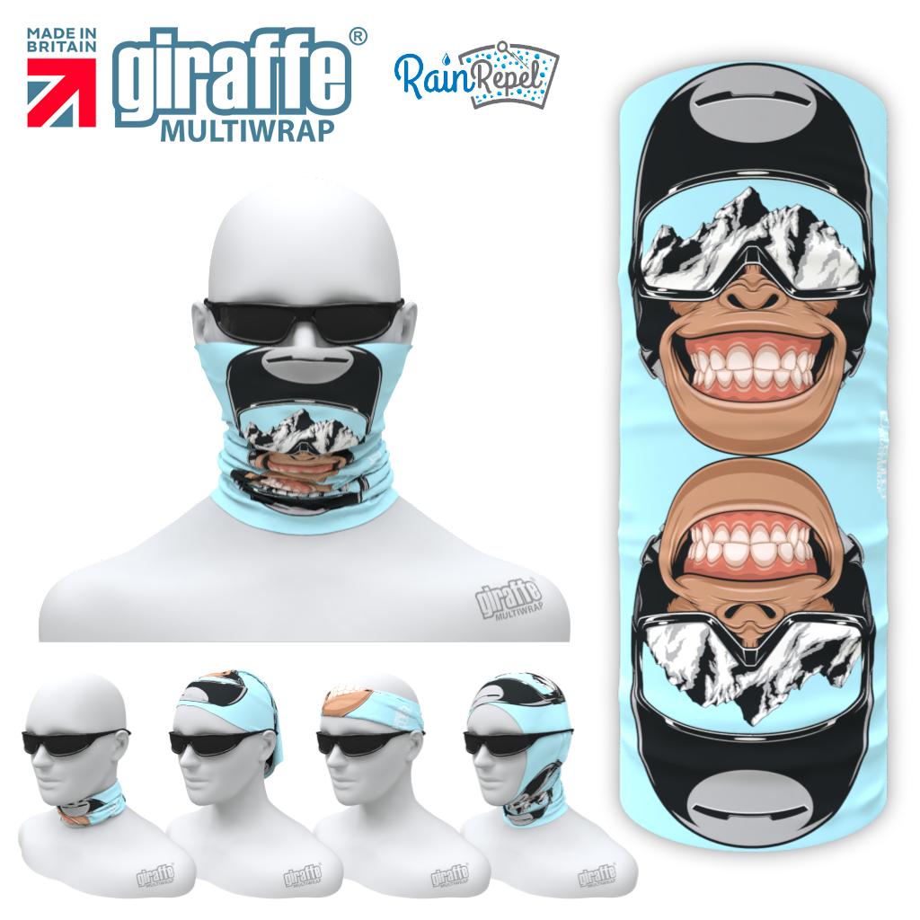 G-604 Chimp Grin Face Mask Tube  Bandana