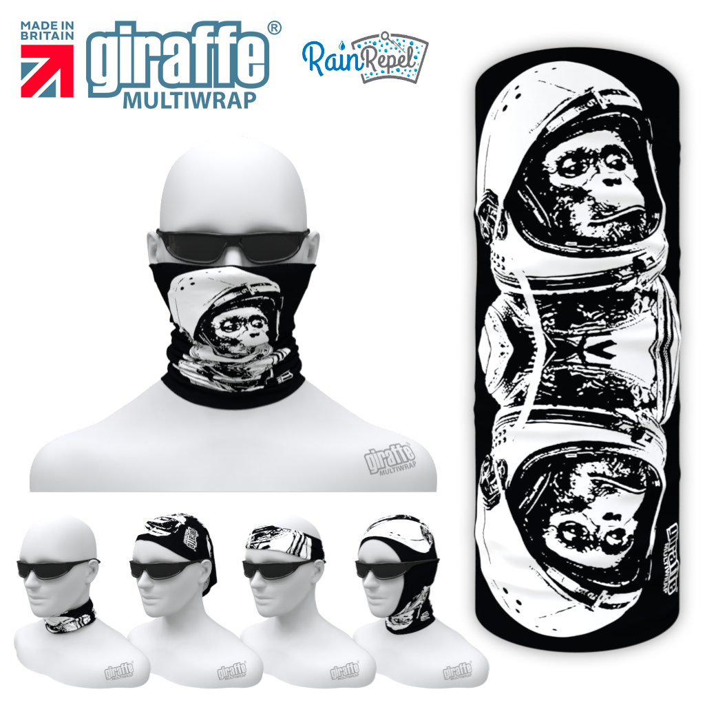 G-606 Chimp In Space Skull  Face Mask Tube  Bandana
