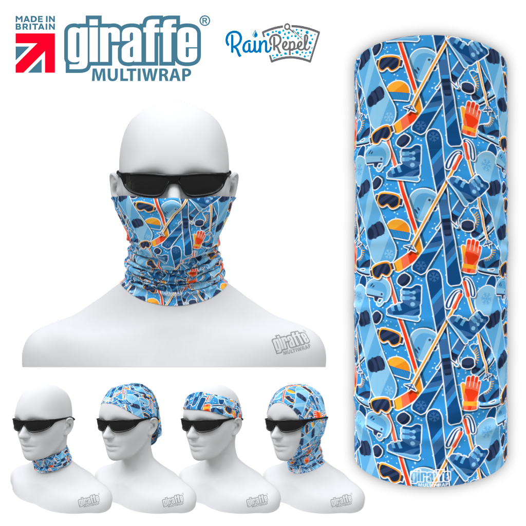 G-609 Ski Blue Face Mask Tube  Bandana