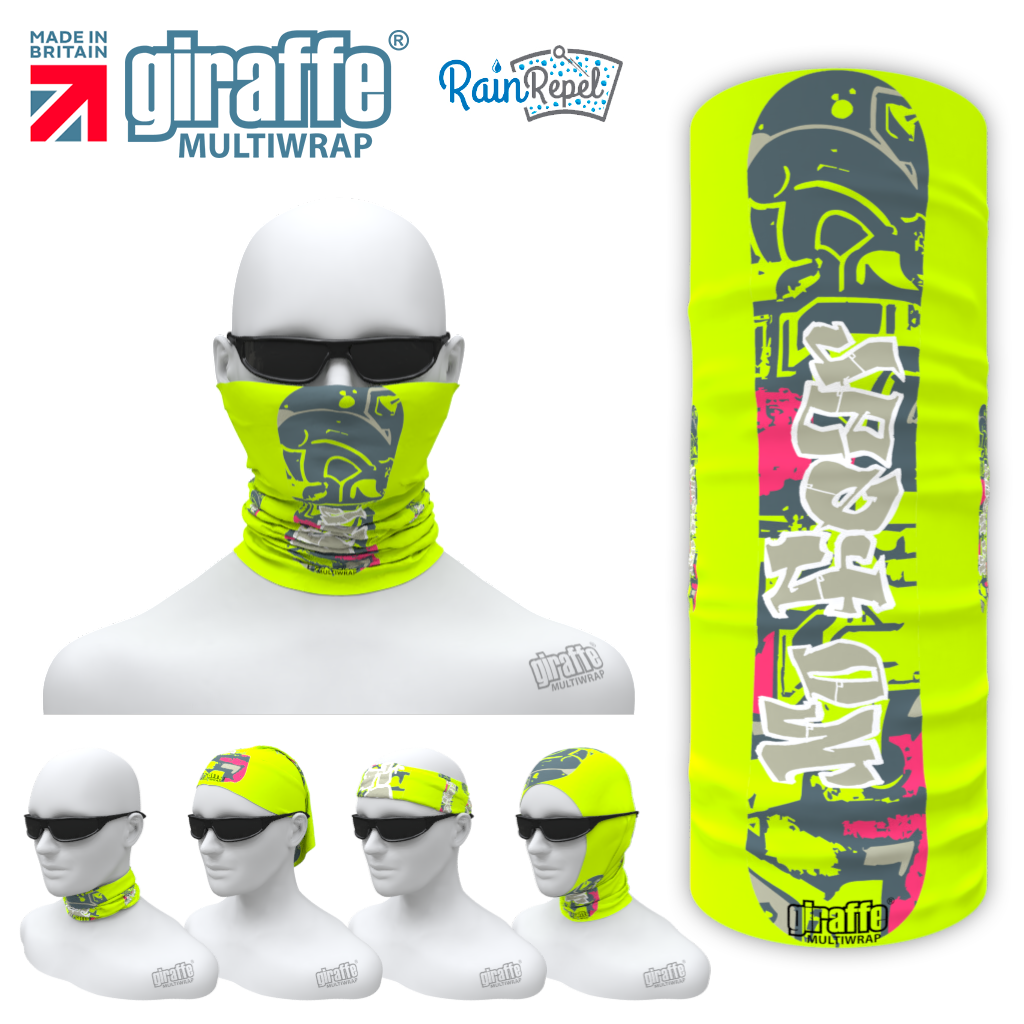 G-617 snowboard green Mask Tube  Bandana