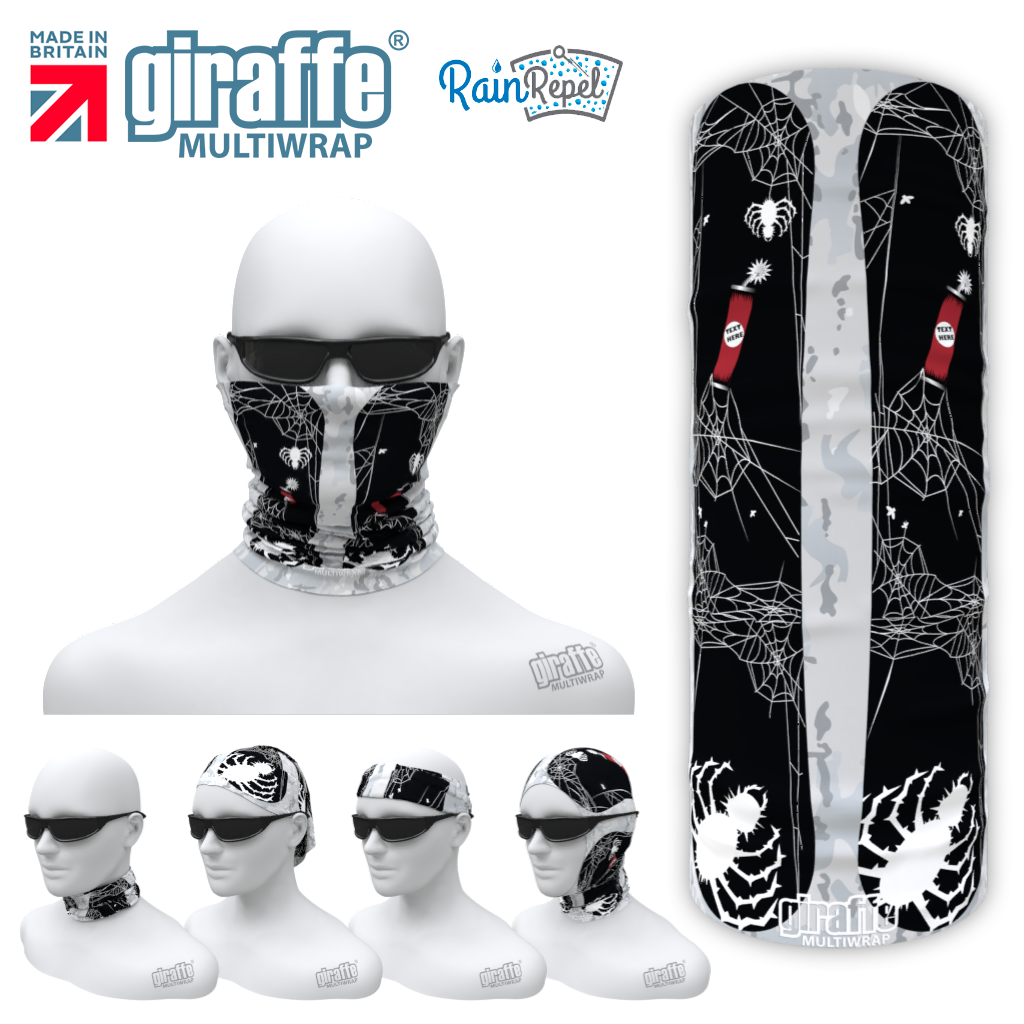 G-619 Spider snowboard black Mask Tube  Bandana