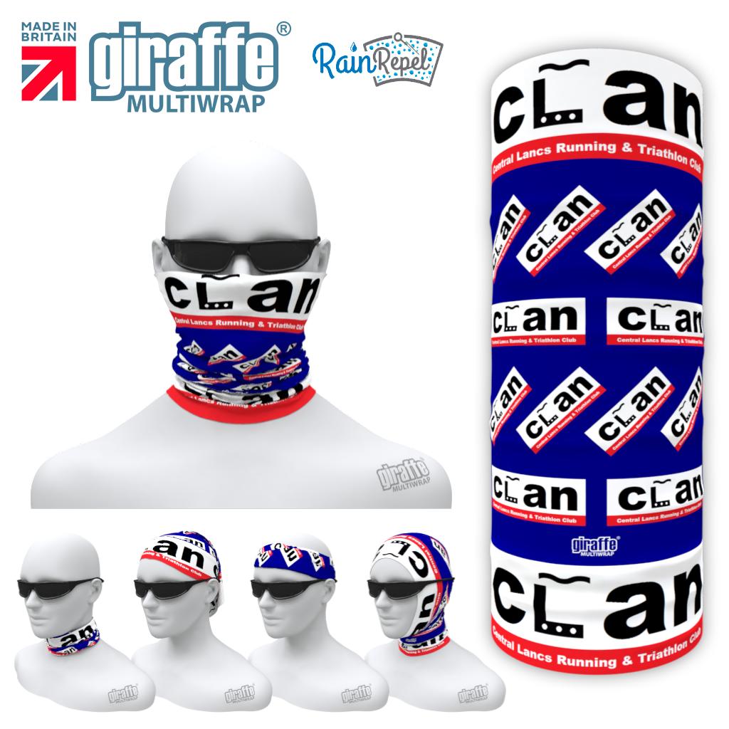 Clan Triathlon  - Club Design Multi-functional Bandana RD