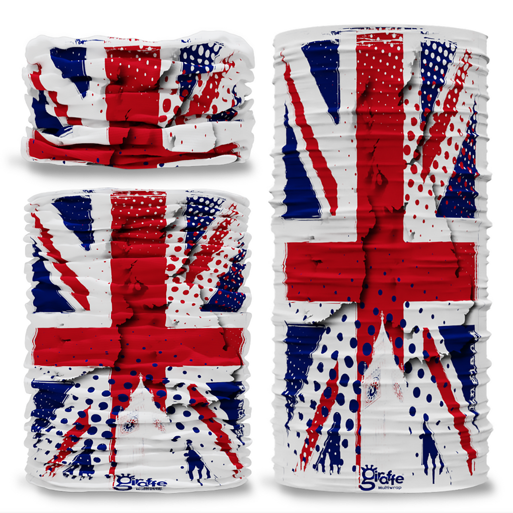 G-642 Union Jack England UK Big Ben Seamless Tube Bandana Snood Multifunctional multiwrap Giraffe headwear