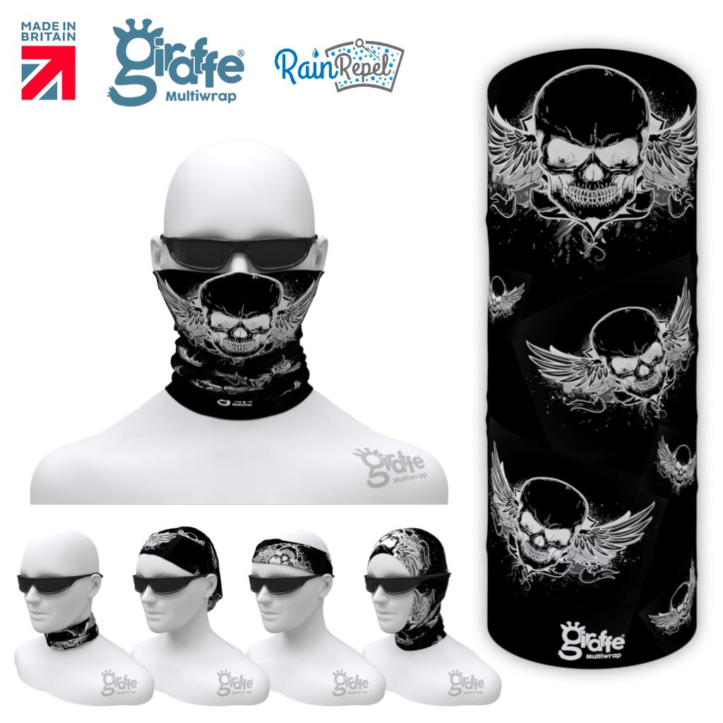 G-654 Flying Black Skulls  Mask Tube  Bandana