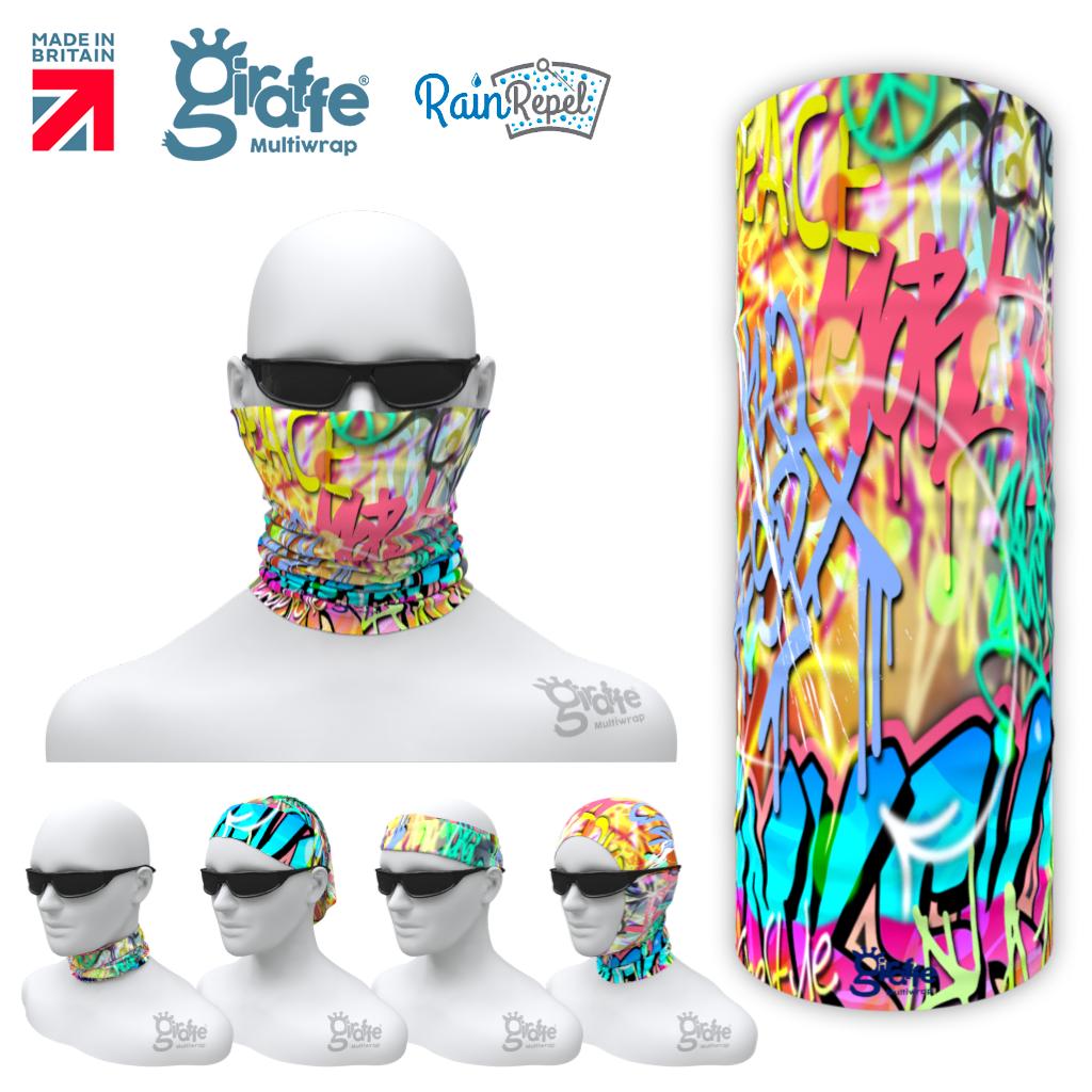 G-655 Street Art Graffiti  Mask Tube  Bandana