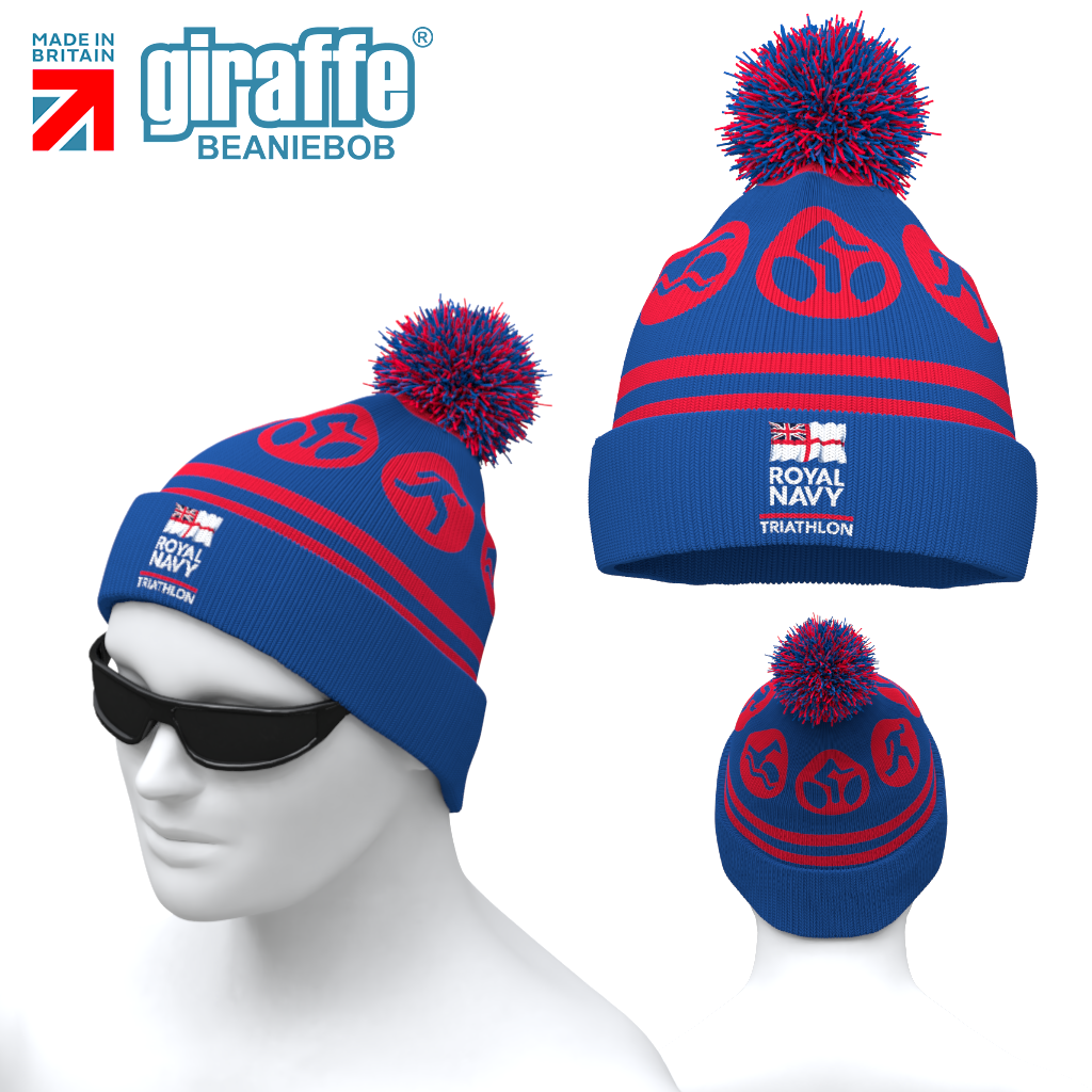 Royal Navy Tri -  Bobble Hat Limited Stock