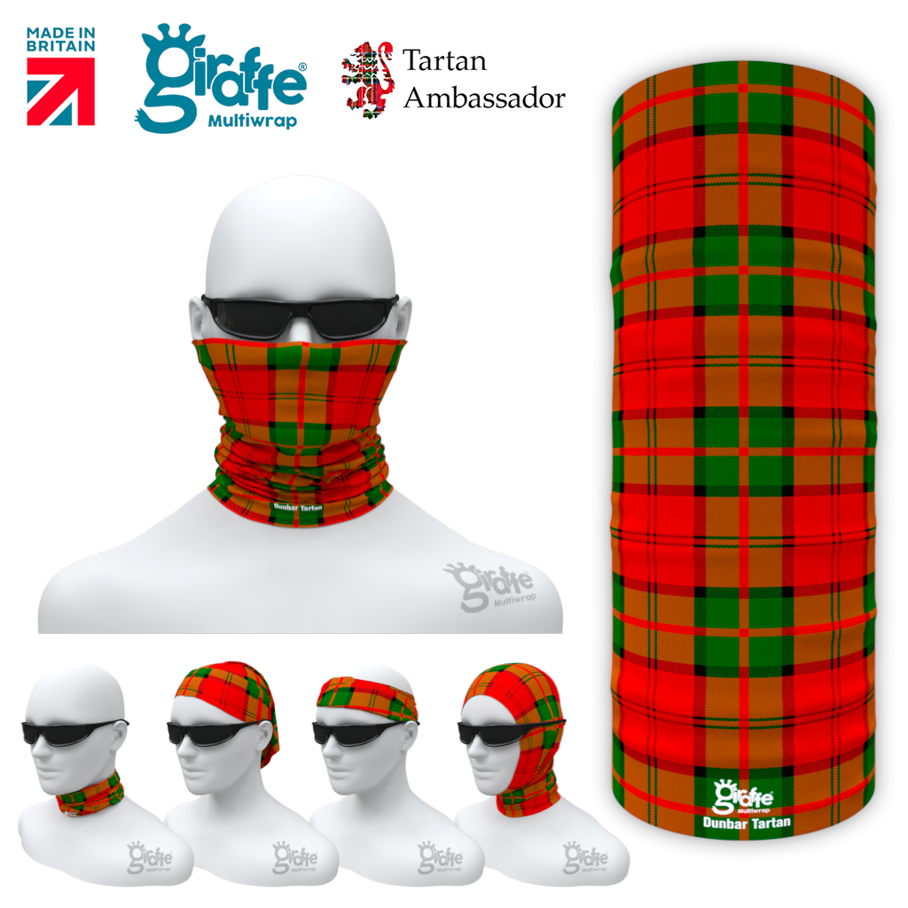 Dunbar Tartan Tartan Scotland Scottish Bandana snood Multi-functional  headwear ski bike run sport