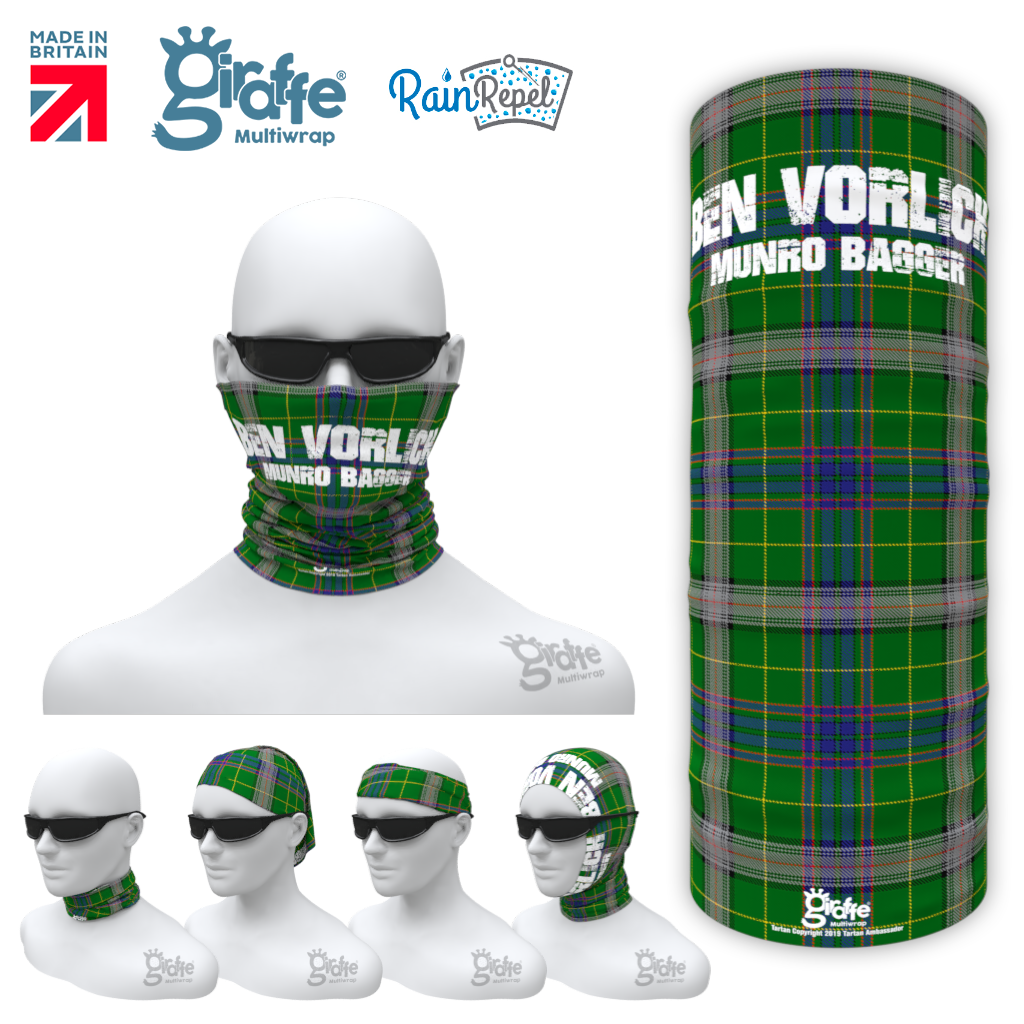 Ben Vorlich Munro bagger Tartan Scottish highlands Bandana snood Multi-functional  headwear climbing walking