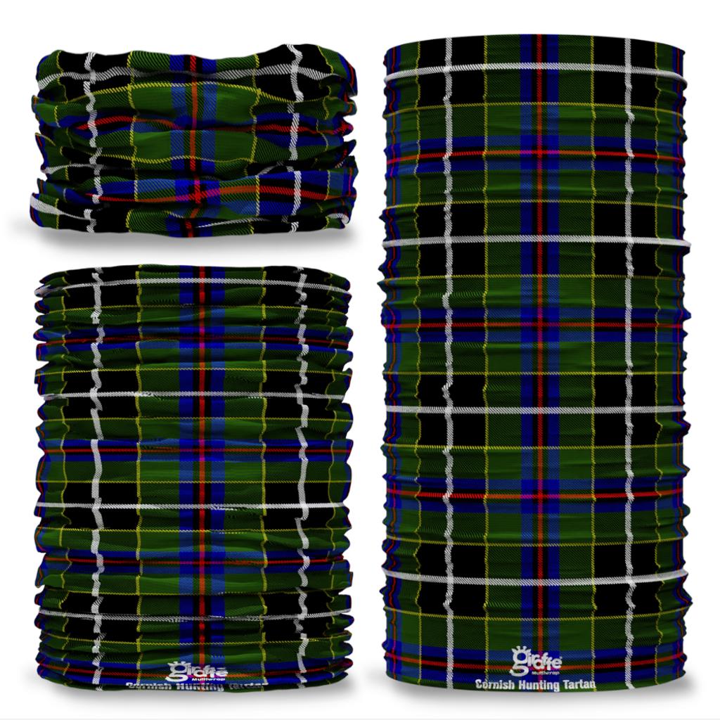 Cornish Hunting Tartan Scottish Clan Seamless Tube Bandana Snood Multifunctional multiwrap Giraffe headwear