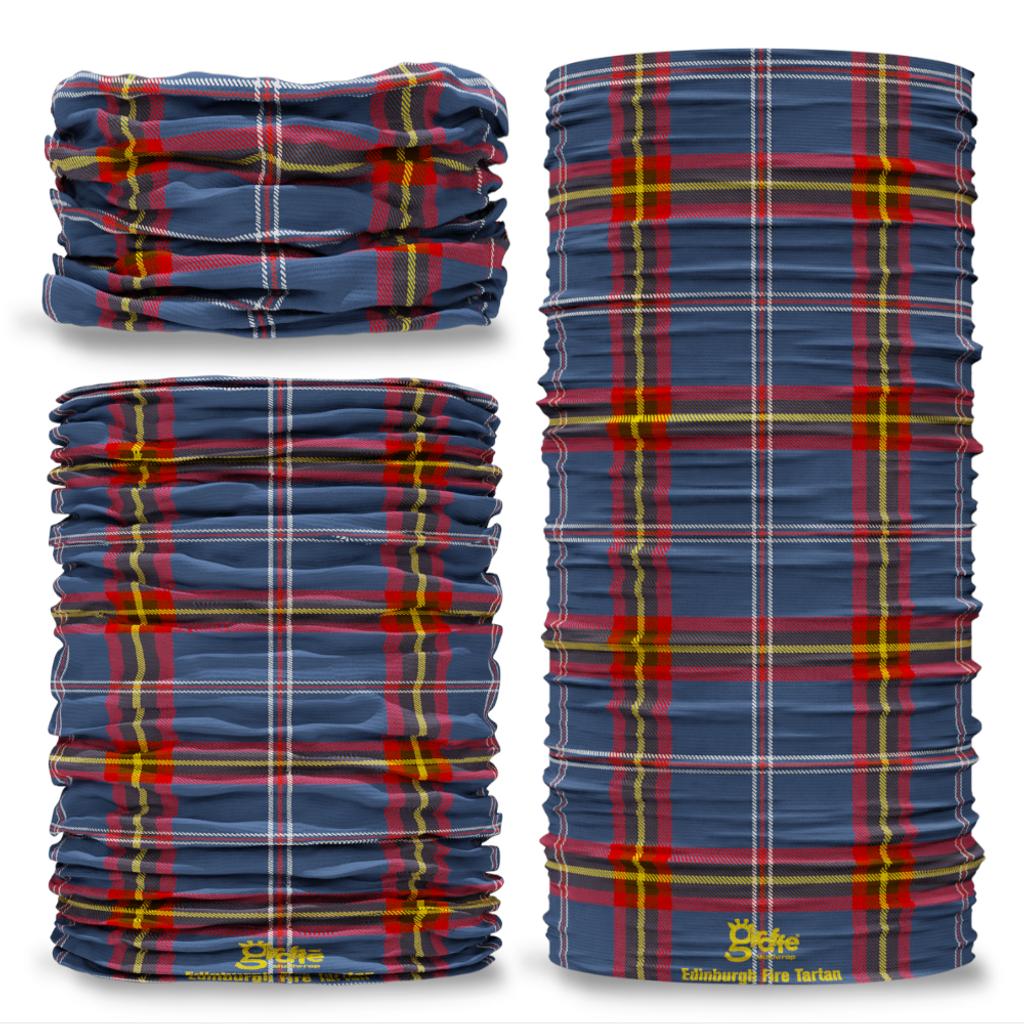 Edinburgh Fire Tartan Scottish Scotland Seamless Tube Bandana Snood Multifunctional multiwrap Giraffe headwear