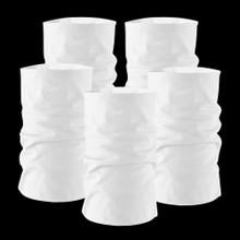 Plain Arctic White Multi Pack x 5 Multi-functional Tube  Bandana Snood Scarf headband