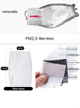 10 Extra PM2.5 Filters for the Fabric Face Mask  ( FILTERS ONLY )