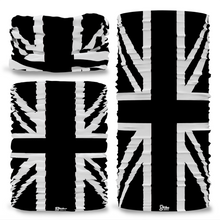 G-718 Great Britain GB Union Jack Flag BlackSeamless Tube Bandana Snood Multifunctional multiwrap Giraffe headwear