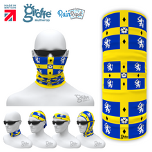 County Durham Lion Flag Repeat Bandana Face Protection Cover Multi-functional Headgear Tube scarf