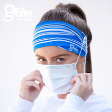 Ear Saver Seamless Tube headband face protection. Prevents sores. One size. Adjustable button clips.