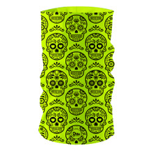 Fluro Neon Mexican Skulls GF21 Multi-functional bandana headwear multiwrap snood