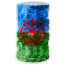 Roma Romani Modern Flag design Bandana Face Protection Cover Multi-functional Headgear Tube scarf