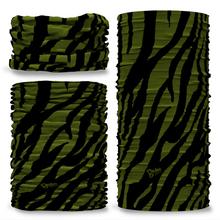 GCAM-1 Camo Zebra reversible plain green inside camouflage Multi-functional bandana headwear multiwrap snood