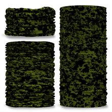 GCAM-2 Camo Fuzz reversible plain green inside camouflage Multi-functional bandana headwear multiwrap snood
